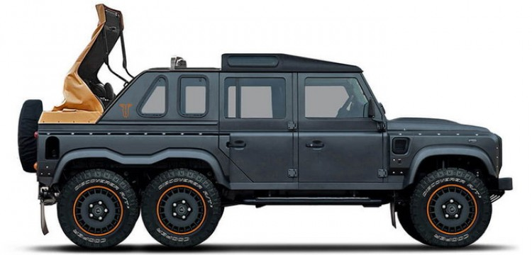 Flying Huntsman 6x6 . . لاندروفر ديفندر بتعديلات خان ديزاين وبست عجلات
